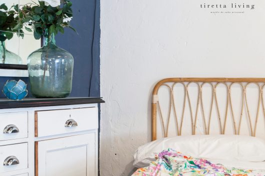 LOGO tiretta living - mueble de caña artesanal - cabecero habitación mimbre recoración retro vintage